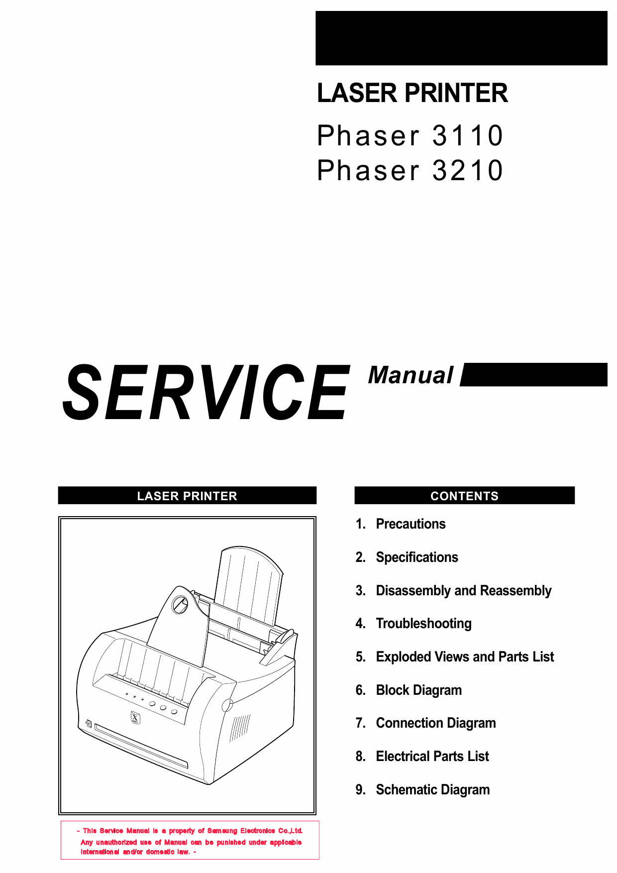 Xerox Phaser 3110 3120 Parts List and Service Manual-1